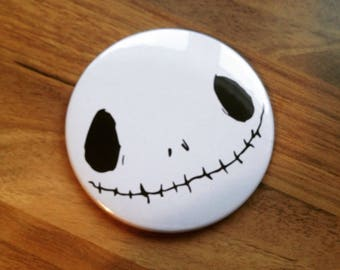 Skeleton pocket mirror -76mm- Make up beauty mirror - Unique - gifts for her - gifts for him - Christmas