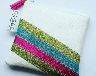 Disco coin purse/ Coin Purse / coin wallet/ Wallet / money purse/ Purse/ glitter purse