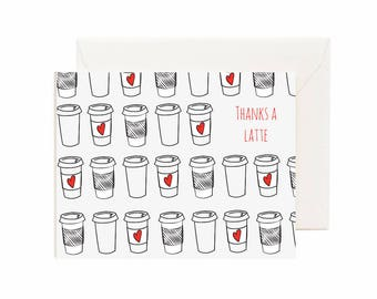 "Thank You - ""Thanks A Latte"" Greeting Card"