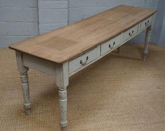 Vintage Painted Pine Serving Table