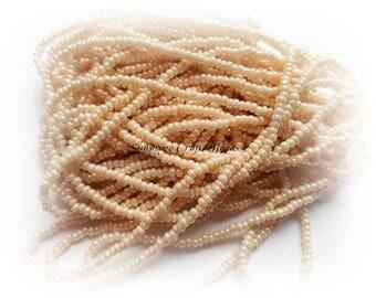 1 Hank Size 11/0 OPAQUE EGGSHELL Preciosa Czech Glass Seed Beads - Approx. 3905 beads