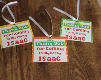 Sesame Street Theme/Goody Bags Tags/Party Favor Tags/Set of 12