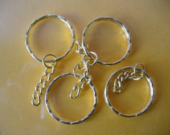 RING 30 MM + 30 MM 14527 GOLD COLOR CHAIN