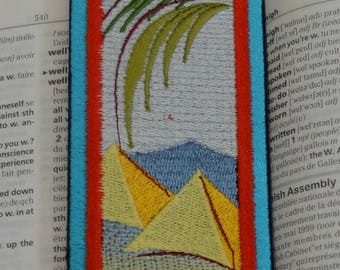 embroidered bookmark Egypt