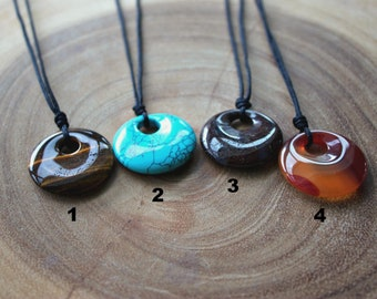 Circle Stone Necklace
