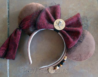 Jack Sparrow Pirate inspired ears