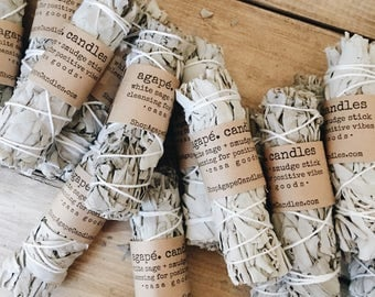 White Sage, smudge stick, cleansing sage