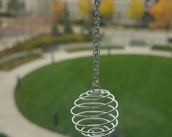 Long Necklace Charm Necklace Statement Necklace Boho Jewelry Simple Necklace Crystal Jewelry Gift for Teen Gemstone Cage Pendant Anxiety