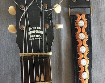 Guitar and Bass Strap, vintage trimming, Made in Italy, Limited Edition