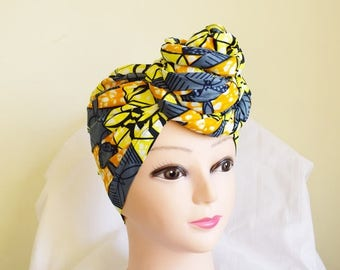 Gray and Black Multi Ankara Head wrap, DIY head tie, Stylish African head scarf, Fabric hair accessory – Made to Order