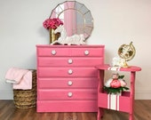 Pink Dresser and Side Tab...