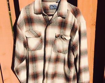 Beige And Brown Pier Connection Flannel Size Large