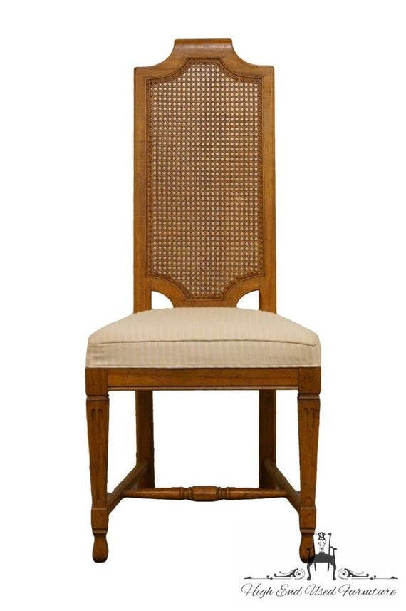 HENREDON Town U0026 Country Collection Cane Back Dining Side Chair
