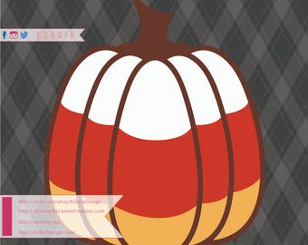 Candy Corn Pumpkin - SVG, PNG and DXF files for Printing/Cutting