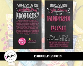 Perfectly Posh Business Card • Perfectly Posh Marketing Materials • Perfectly Posh Consultant Tools • PP-BC002