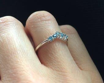 Aquamarine 925 sterling Silver ring