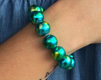 Blue & Green Swirl Bracelet