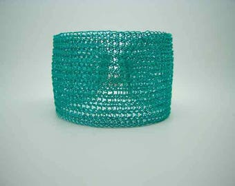 Silver Plated copper bracelet Turquoise