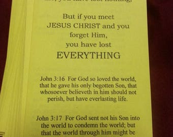 If You Meet Jesus 50 KJV Bible Tracts