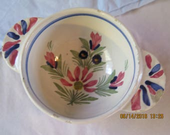French Country Henriot Quimper Bowl with Handles