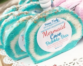 Mermaid Cove Bubble Bar - Mermaid Bubble Bar - Solid Bubble Bath Bar