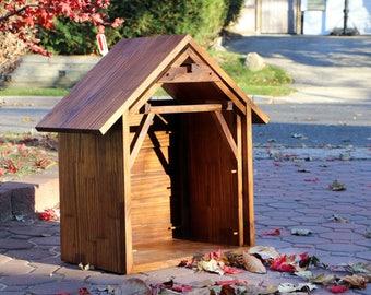 Wooden Manger Nativity Creche, Can be disassembled, Original Design