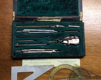 Vintage Architectural Drafting Set / Tools