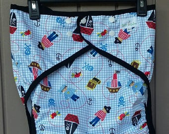 Adult Snap Diaper Cover Patterned