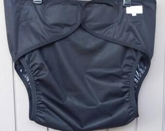 Adult Black Gusset Diaper Cover