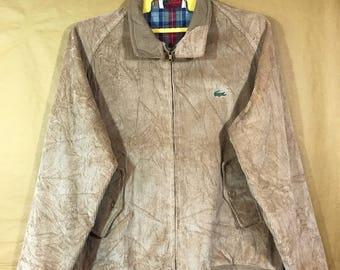 Vintage 80s IZOD LACOSTE Corduroy Harrington Jacket