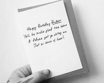 Happy Birthday Brother Scottish Card