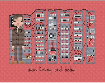 Alan Turing PDF digital pattern