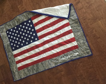 American flag quilt | Etsy : american flag quilts for sale - Adamdwight.com