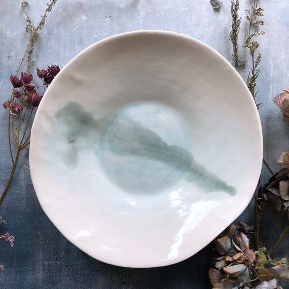 Watercolor series porcelain large bowl