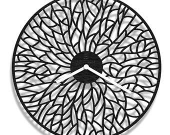 Wings laser cut wall clock