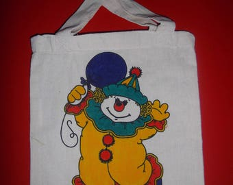 "child in cotton bag ""clown"" 25 x 21 cm"
