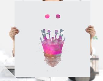 Ink Blot | Rorschach | Psychology Art, Medical Art | Psychiatrist Gift | Instant Download | Therapist Office | Ink Print |