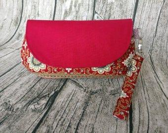 Glenda's Clutch - Red Batik