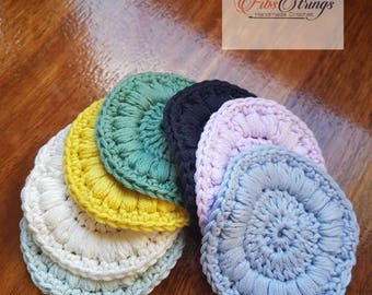 Pack of 7 | Pack of 14 | Handmade Crochet Face Scrubbies | Cotton Face Pads | Makeup Remover