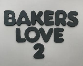 Custom Name and Age Toppers-Fondant