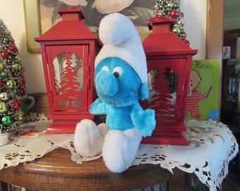 Vintage 1979 Peyo Wallace Berrie & CO Smurf Plush Doll Figure Toy