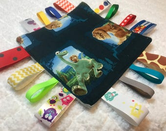 Disney's The Good Dinosaur Crinkle Sensory Toy, Crinkle Toy, Sensory Toy, Tag Blanket