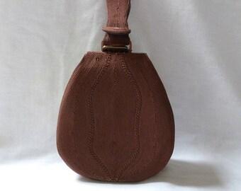 Genuine Cordé brown purse HANDBAG WRISTLET Made in England