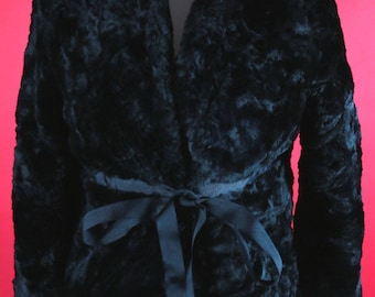 Black Fake Fur Jacket by Countess
