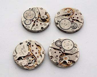 lot 4 old 22mm gear steampunk watch gear
