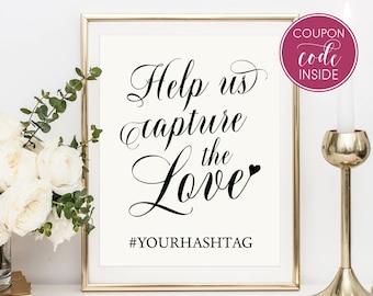 Help us capture Wedding hashtag sign Printable wedding sign Outdoor wedding Signs for wedding Hashtag sign printable Nautical wedding