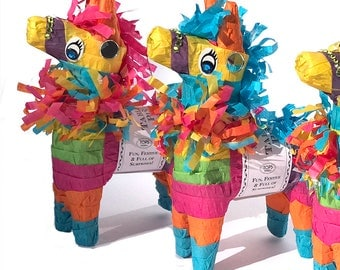 Mini Donkey PInata with Prizes | Mini Pinata Fiesta Favors Fiesta Decor Party Favor Fiesta Birthday Bridal Fiesta Mexican Fiesta Party