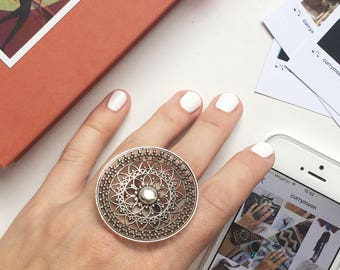 Large womens ring, big silver ring, fancy silver ring, unique silver ring, silver rings, 925 silver, pure silver ring, nice ring, big ring