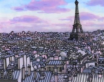 Paris in Purple, Print
