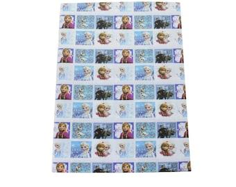 """Tissu Coton imprimé thème """" Frozen / la Reine des Neiges 2"""""""